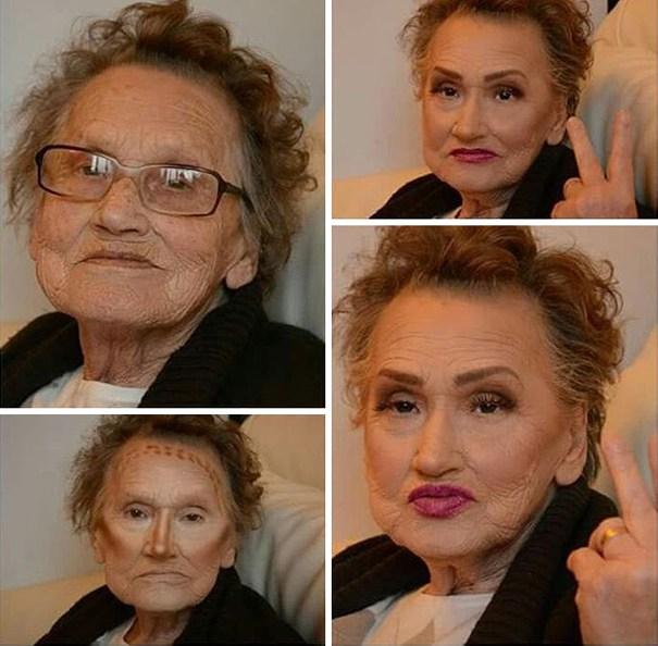 80-летняя бабушка взорвала сеть контурингом а-ля Ким Кардашьян Femmie