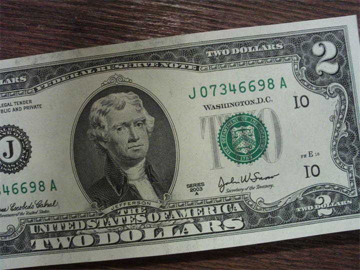 Набор из 7 банкнот сша,цветн с 2-х стпод заказ!