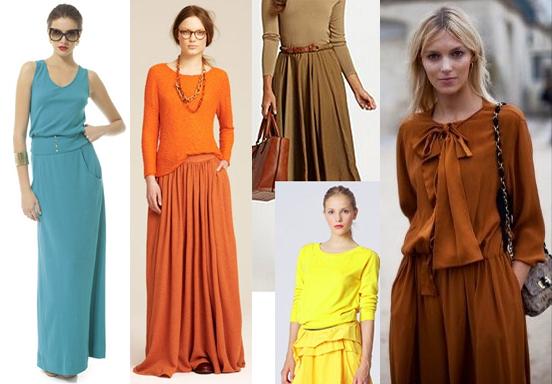 Идеи для длинной юбки