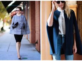 Тренд сезона — стильное пальто-накидка: 20 модных вариантов