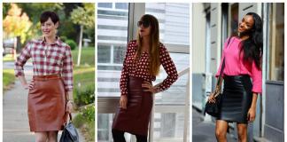 С чем носить и сочетать кожаную юбку-карандаш – 20 модных вариантов [фото новинки 2017]