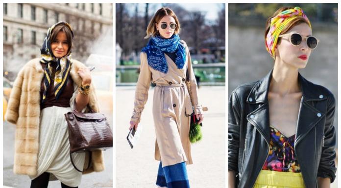 Как красиво повязать и носить палантин: 20 стильных образов