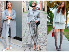 Стиль total grey: 20 потрясающих уличных образов с серым цветом