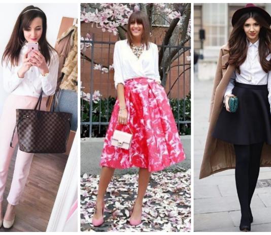 Стильные образы с белой блузой: 20 идей на каждый день