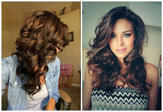 Как сделать длинные локоны на длинные волосы фото