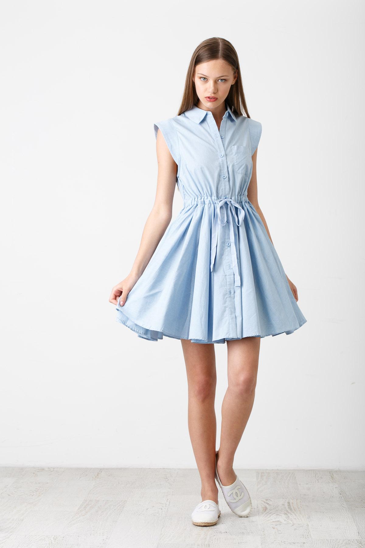 1807773bd37 В тренде этого года — платье-халат  популярные фасоны и модели