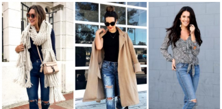 Глоток свободы: 20 стильных образов с рваными джинсами