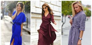 В тренде этого года — платье-халат: популярные фасоны и модели