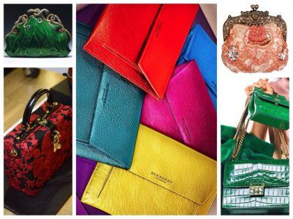 Разноцветные сумки различных форм и моделей.