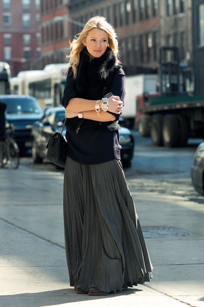 Широкие юбки из шелка