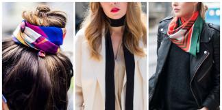 Вы уже знаете, как завязать шарф в форме галстука, как скрутить его или завязать вместо пояса? Но есть еще несколько ошеломительных способов, как носить вам любимый шелковый шарфик. Смотрите и учитесь! Как браслет Вряд ли у вас когда-либо был такой браслет. Как галстук Пробуди в себе парижанку и завяжите на шарфе простой узел, позволяя концам его свисать спереди или сбоку, как вам больше по вкусу. Как повязка для волос Хотя для большого объема волос нужна настоящая повязка, чтобы удержать пучок на месте, шелковый шарф украсит вашу прическу. Как лента для волос Не давящий и легкий шарф на голове украсит ваши волосы в выходной день. Как настоящий головной убор В кафе после тренировки? Закрутите шарф, и вам не потребуется использовать кошмарный сухой шампунь. Прямо со спортивного зала вы смело можете отправляться в таком уборе на встречу с друзьями. Как ожерелье Лучше, если тонкий узкий шарф можно обернуть один раз вокруг шеи. Как украшение сумочки Такое украшение кажется классическим и более оригинальным, чем всякие пушистые брелоки на сумочках. Как карманный платочек Подражая парням, поместите в карман рабочего блейзера платочек из шарфа подходящего цвета. Как пояс Особенно пояс из шарфа хорош для джинсов с высокой талией, вдохновленной 70-ми годами прошлого века. Как бандана Ничего замысловатого. Позвольте себе выглядеть естественно, как девушка-ковбой. Хотя, если вам нравится, можно выбрать шарф со сложным узором.