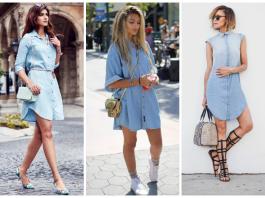 С чем носить джинсовое платье: 25 стильных образов