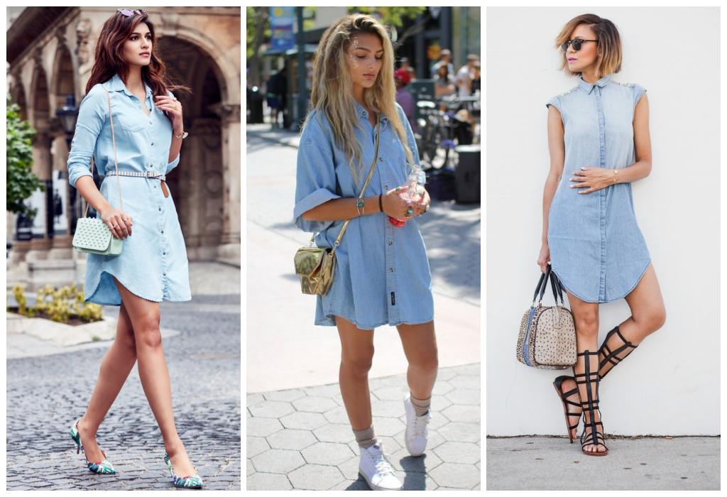 41b2099f3c08bd1 С чем носить джинсовое платье: 25 стильных образов | Femmie