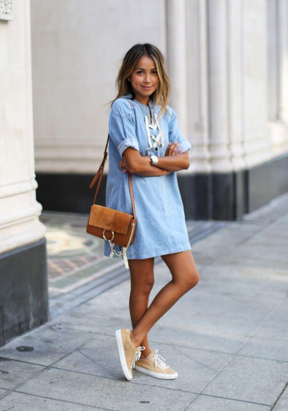 С какой обувью носить короткое платье