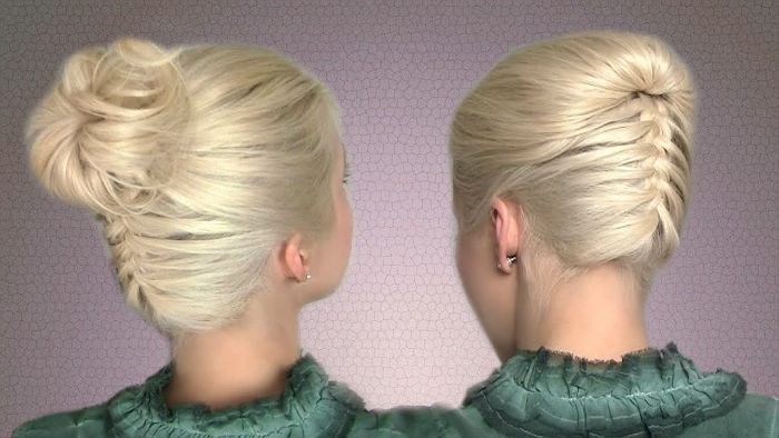 ракушка и коса короткие волосы