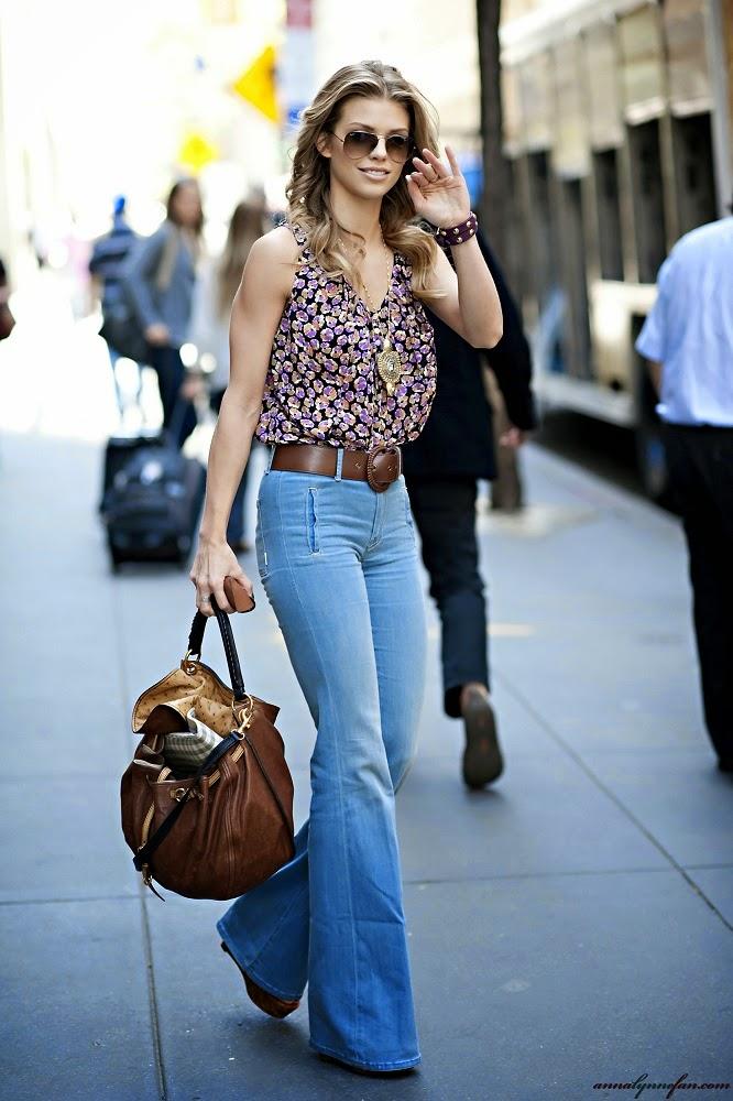 Самые модные фасоны джинсов клеш 1
