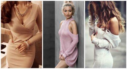 вязаное платье образ