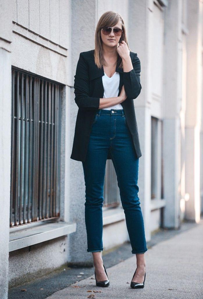Самые модные фасоны джинсов высокая талия