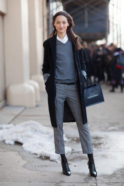 модные образы с брюками