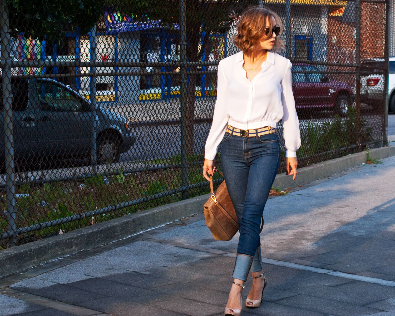 Какие прически подходят к джинсам