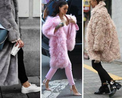 мех пальто сочетание